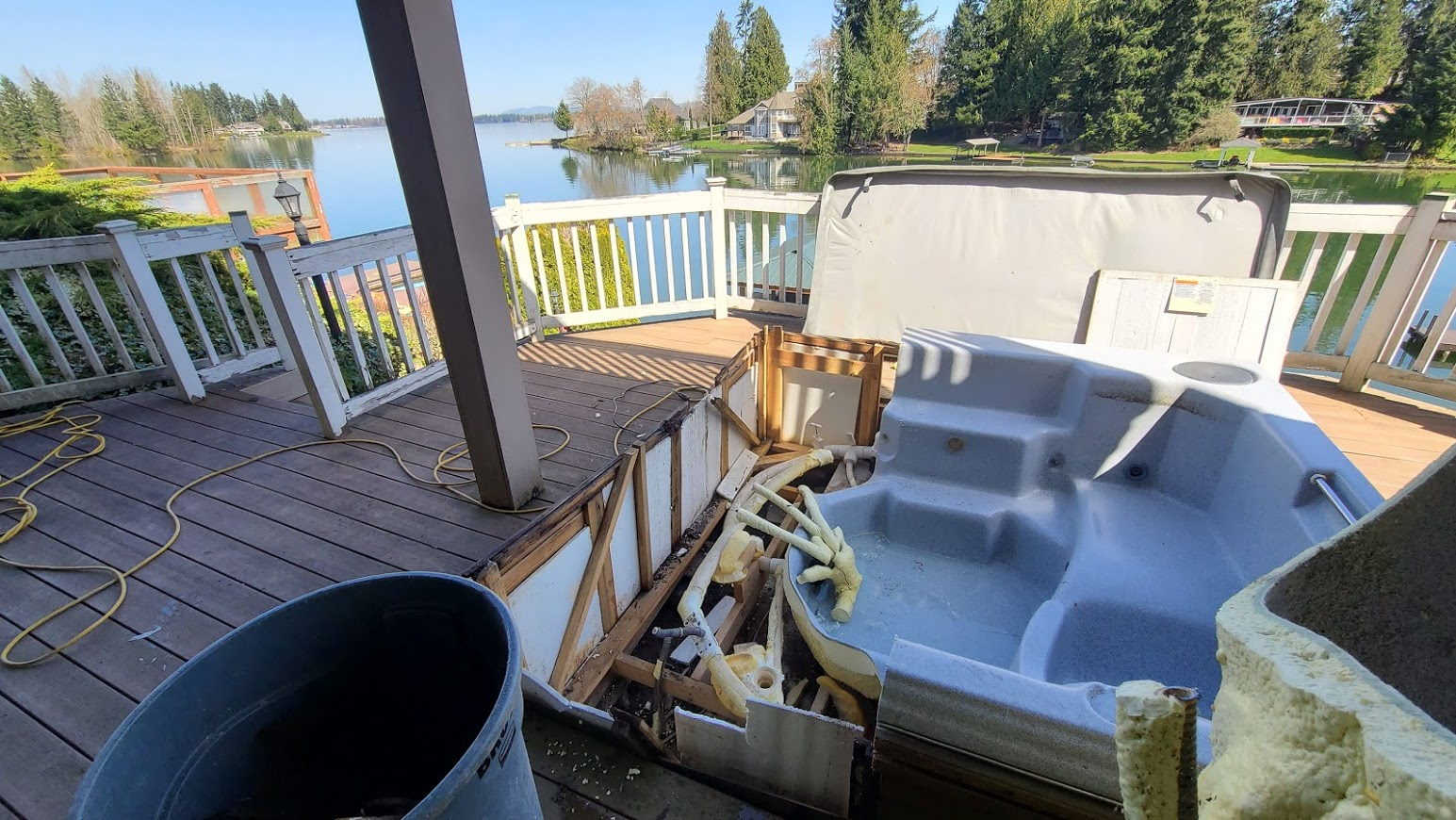 Hot Tub Being Removed